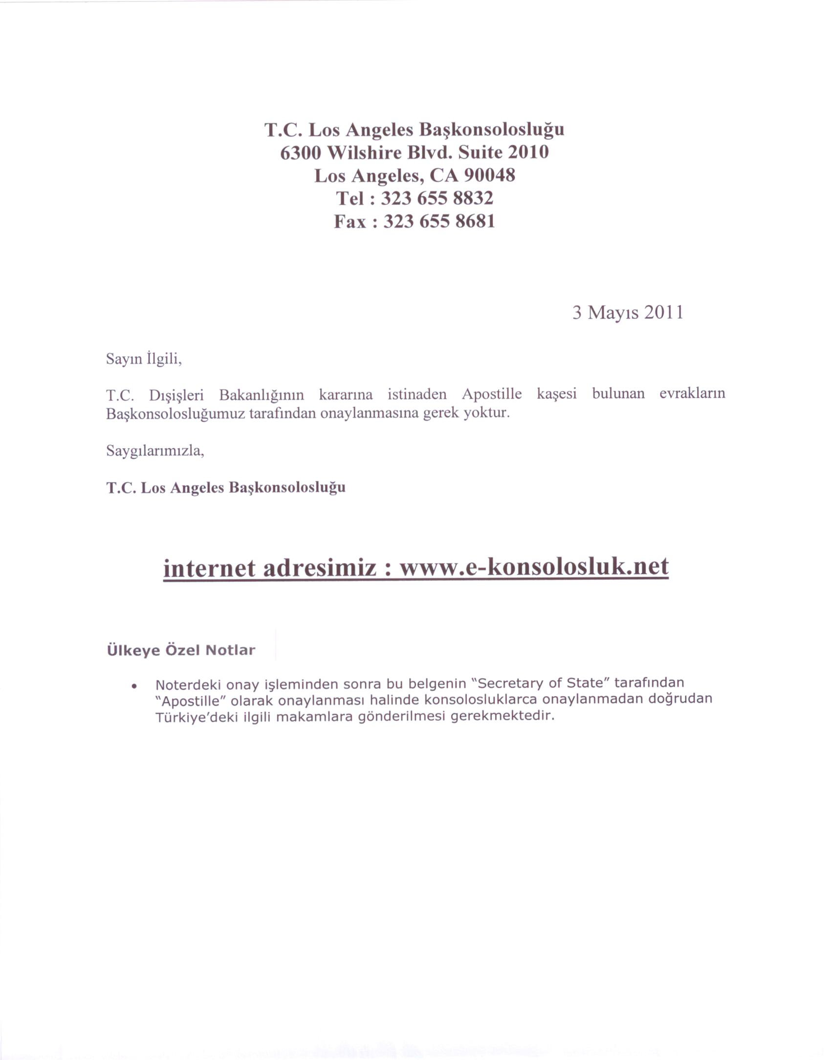 Document legalization translation at secretary of state andor turkish consulate generals official note about apostille legalization and usa apostille 1betcityfo Image collections